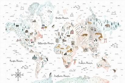 World Traveler I by Laura Marshall art print