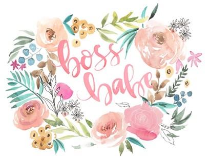 Boss Babe I by Jennifer Parker art print