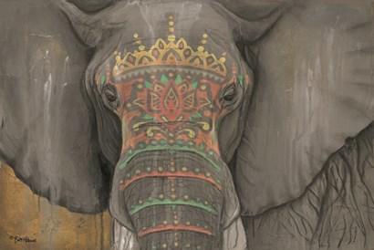 Tattooed Elephant by Britt Hallowell art print