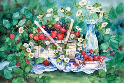 Strawberry Picnic by Kathleen Parr McKenna art print