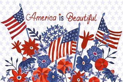 America the Beautiful I by Farida Zaman art print