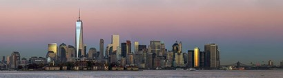 NYC Panoramic At Sunset 1 by Franklin Kearney art print