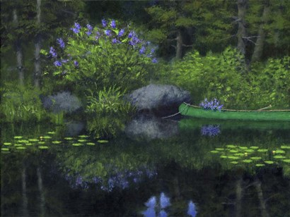 Tranquil Pond by George A Marks Jr art print