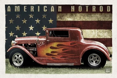 American Hot Rod by Old Red Truck art print