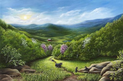 The Three Little Bears by Penny Scarboro Fine Art art print