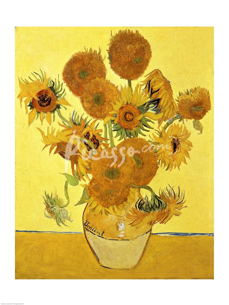 sunflowers  1888 yellow fine