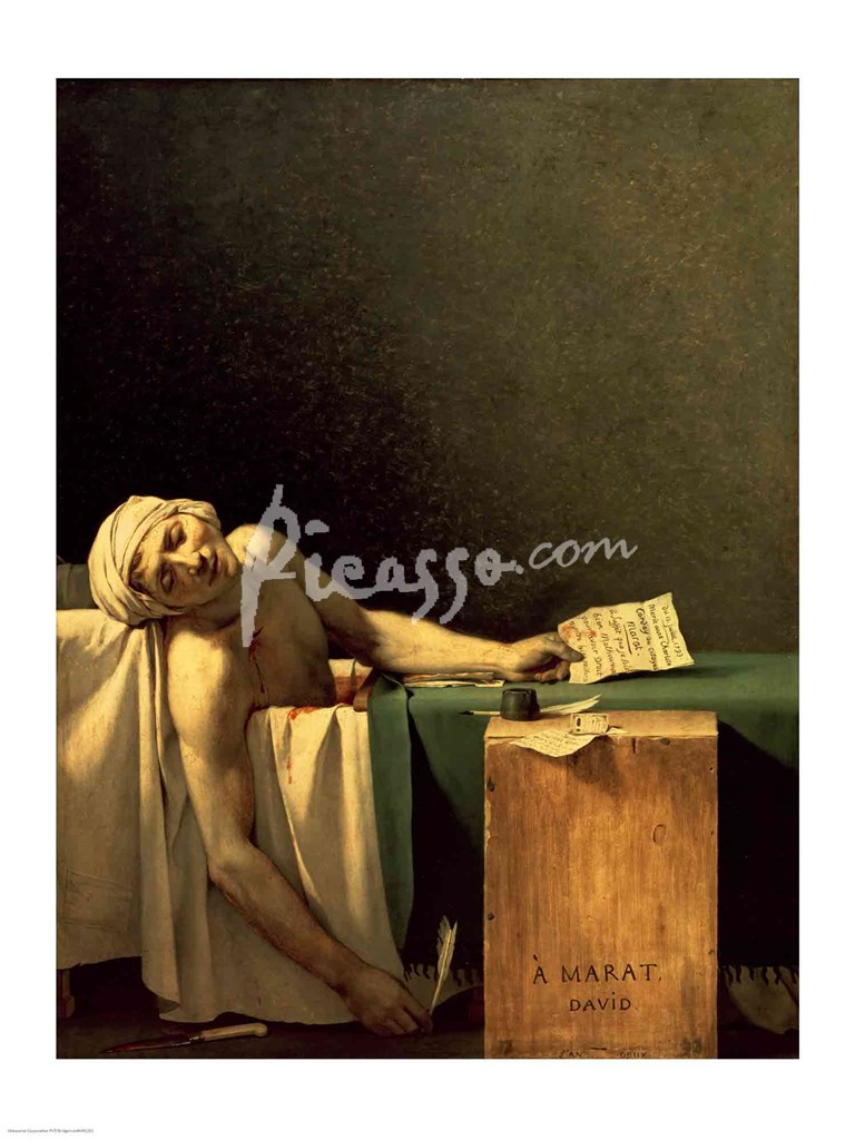 The Death of Marat, 1793 Fine-Art Print by Jacques-Louis ...