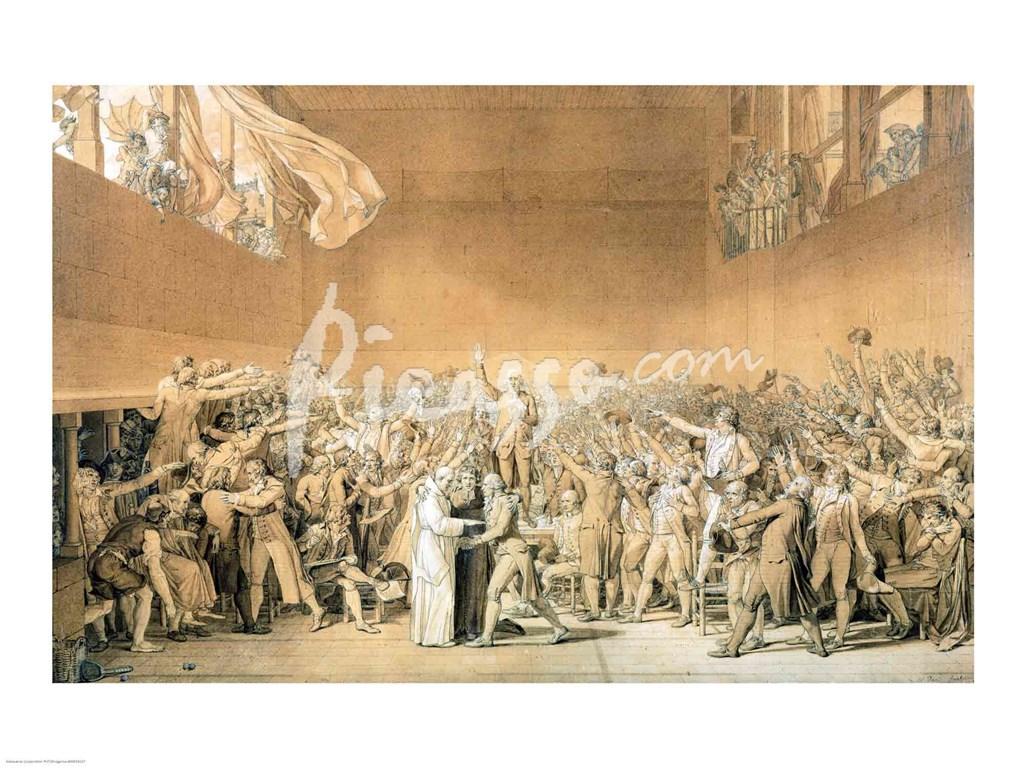 The Tennis Court Oath, 20th June 1789 Fine-Art Print by ...