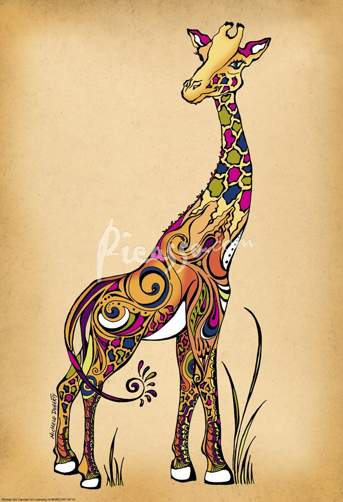 Abstract giraffe tattoo