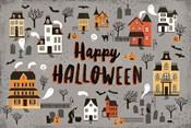 Spooky Village I Gray