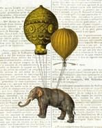 Elephant Ride II v2 Newsprint