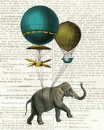 Elephant Ride I v2 Newsprint
