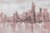 Misty Day in Manhattan Pink Gray