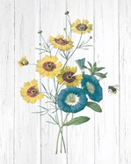 Botanical Bouquet on Wood II
