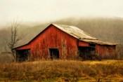 Skylight Barn in the Fog
