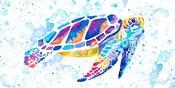 Vibrant Sea Turtle