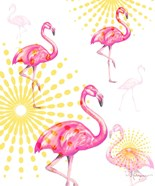 Fashion Flamingos Burst I