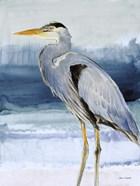 Heron on Blue  I