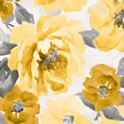 Yellow and Gray Floral Delicate II