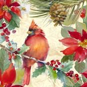Cardinal and Pinecones II