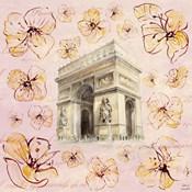 Golden Paris On Floral II