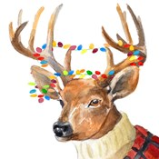 Christmas Lights Reindeer Sweater