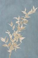 Tan Leaf on Blue II