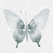 Grey Watercolor Butterflies II