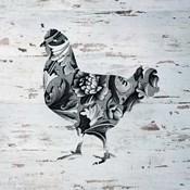 Filigree Chicken on Wood