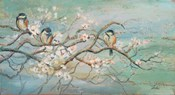 Spring Branch with Birds
