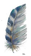 White Watercolor Feather I