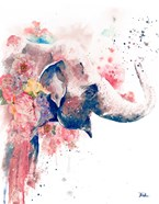 Floral Water Elephant