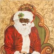 African American Sitting Santa