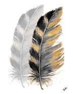 Two Watercolor Feathers