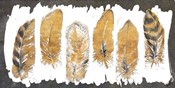 Gold Watercolor Feathers