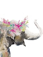 Water Elephant with Flower Crown