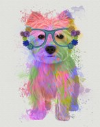 West Highland Terrier Rainbow Splash