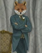 Fox Victorian Gentleman Portrait