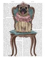 Pug Princess on Chair