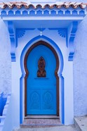 Morocco, Chefchaouen A Traditional Door