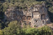Turkey, Dalyan, Mugla Province The Six Lycian Rock-Cut Tombs