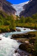 Norway Briksdal Glacier And River