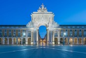Portugal, Lisbon, Baixa, August Street Arch At Dawn