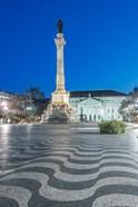 Portugal, Lisbon, Rossio Square At Dawn
