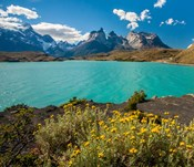 Chile, Patagonia, Torres Del Paine National Park The Horns Mountains And Lago Pehoe