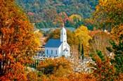 St Sava Serbian Church In Autumn