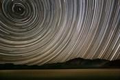 California, Death Valley Star Streaks