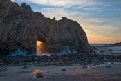 Arch's Last Light At Pfeiffer Beach