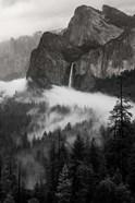 Bridal Veil Falls, Yosemite NP (BW)