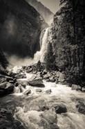 Lower Yosemite Falls, Yosemite National Park (BW)